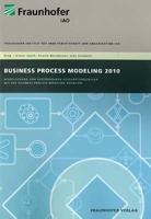 Cover IAO-Studie Business Process Modeling 2010