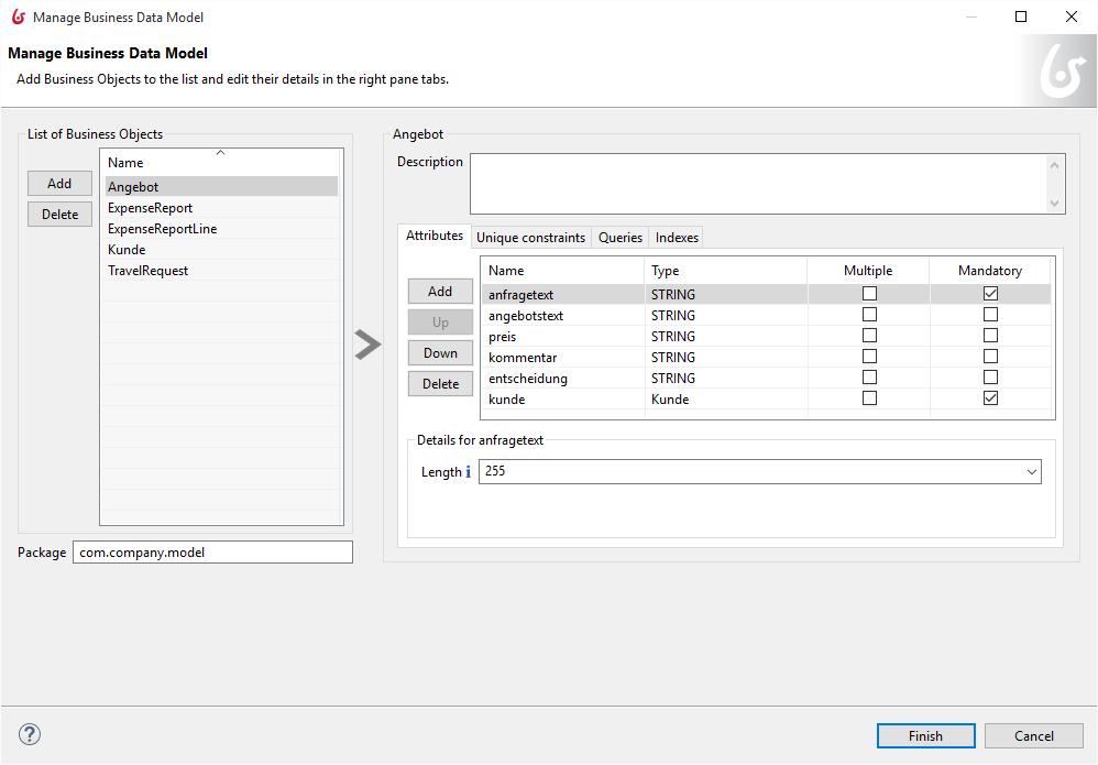 Business-Objekte, Verträge und Web-basierte Formulare in einem ...
