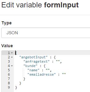 formInput JSON